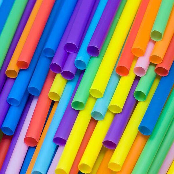 Καλαμάκια Πλαστικά για Ροφήματα / 1.000 TEM., (Ένα - Ένα σε σελοφάν)