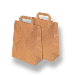 Kraft Brown brown bags with handle