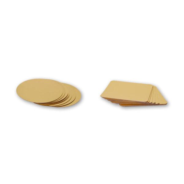 Χαρτόδισκοι για Τούρτες (Χρυσοί)